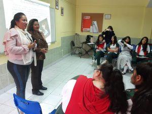 Charlas sobre violencia en el pololeo para alumnas de Ed. Media