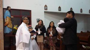 Celebración de Bautizo en nuestra capilla