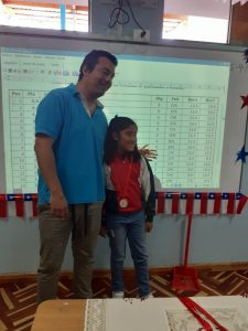 Alumna de Academia de Ajedrez vencedora en Encuentro NAC-CISA