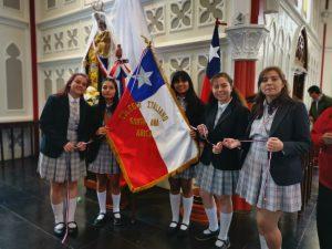 Alumnas CISA participan en misa por Virgen de Fátima