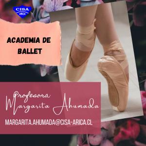Participa de la academia de Ballet