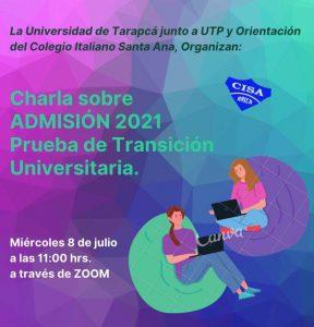 Charla Admisión 2021 - Universidad de Tarapacá