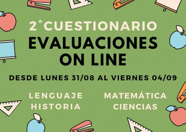 2º cuestionario evaluaciones online