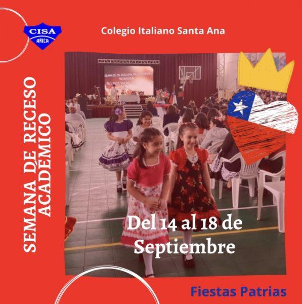 Receso académico por Fiestas Patrias.