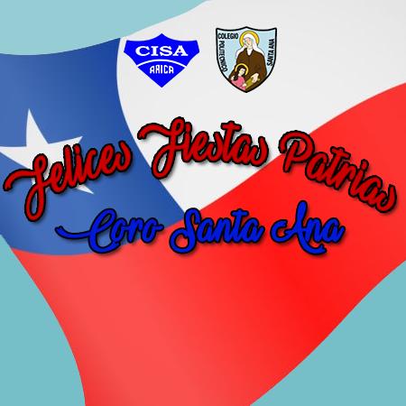 Felices Fiestas Patrias les desea Coro Santa Ana