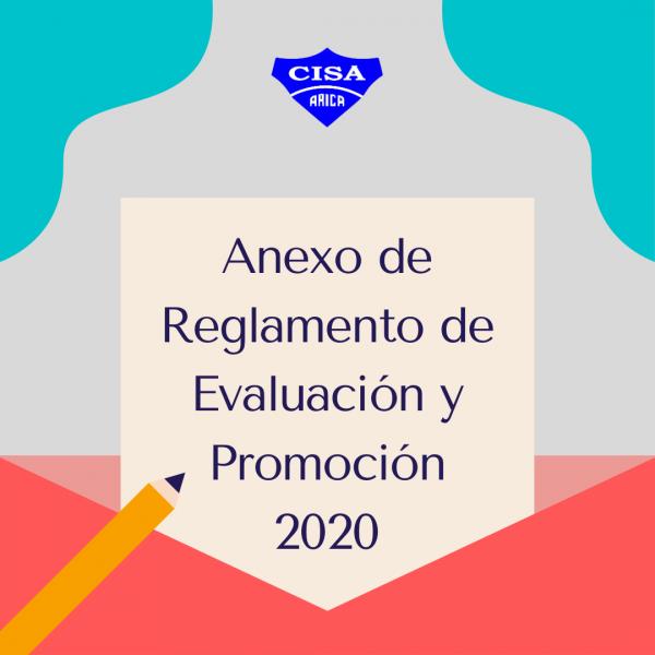 Anexo: Reglamento de Evaluación y Promoción Escolar 2020.