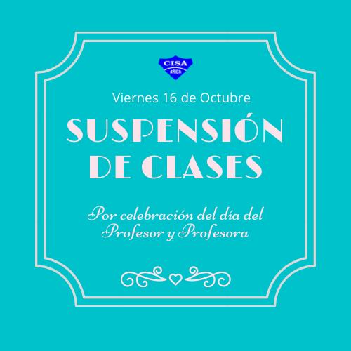 Viernes 16 de Octubre, cambio de actividades sin estudiantes.
