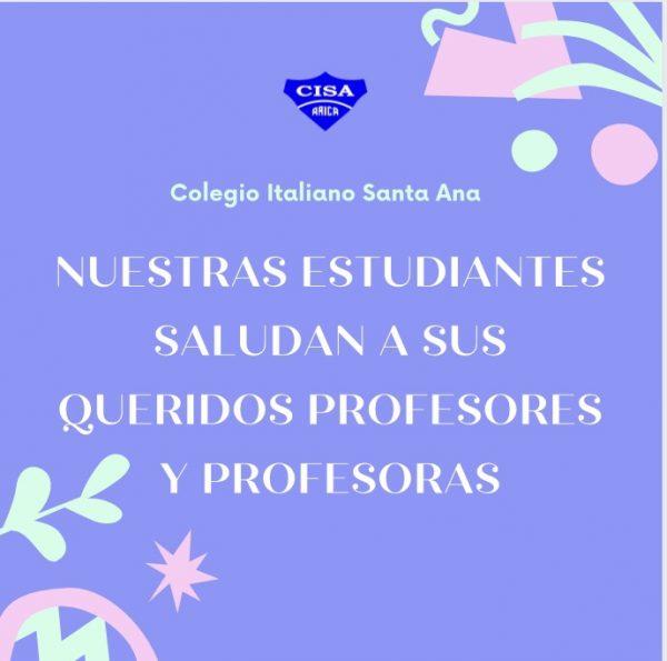 Nuestras Estudiantes saludan a sus Profesores