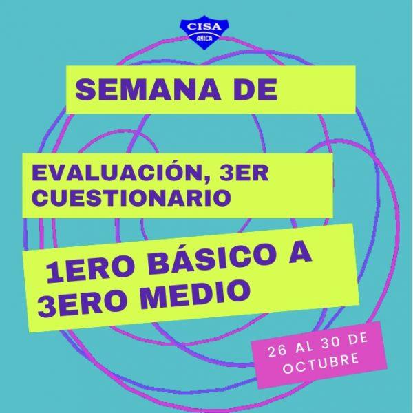 3er Cuestionario Evaluado desde 1ero básico a 3ero Medio.