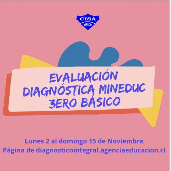 Evaluación Diagnóstica MINEDUC para 3ero Básico.