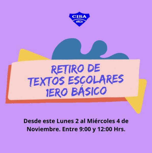 Retiro de Textos Escolares 1eros Básicos.