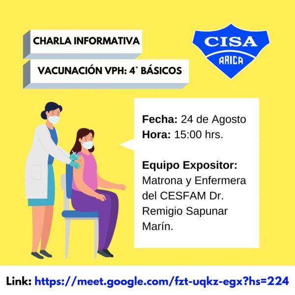 Charla Informativa sobre vacunación Escolar