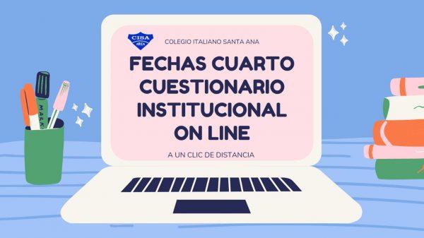 Fechas 4to Cuestionario Institucional Online