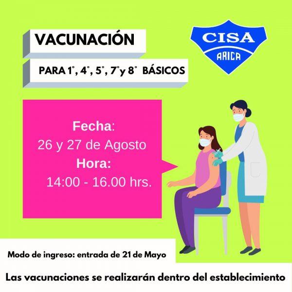 Vacunación Escolar 2021