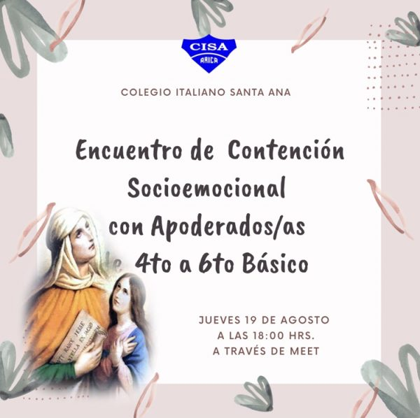 3er Encuentro de Contención Socioemocional