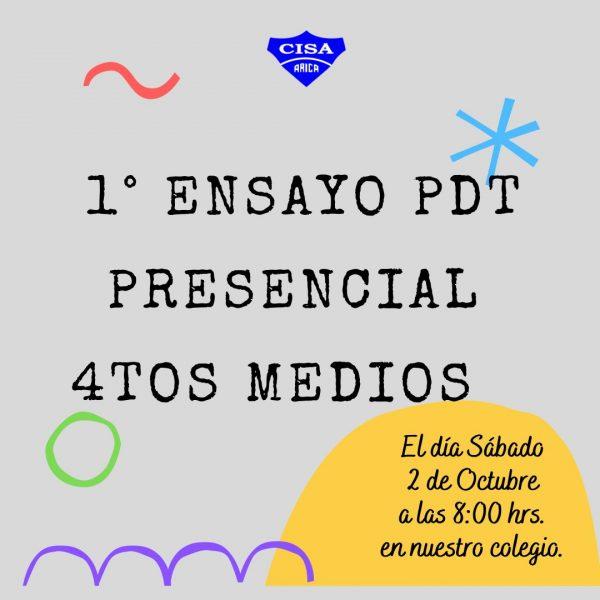 Ensayo PDT Presencial