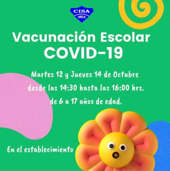 Vacunación escolar COVID-19